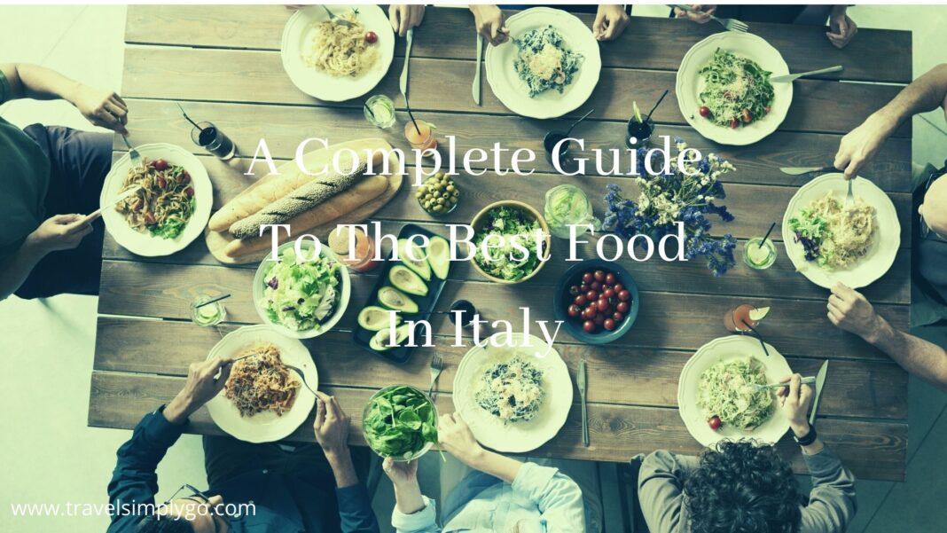 Top 10 Italian dishes